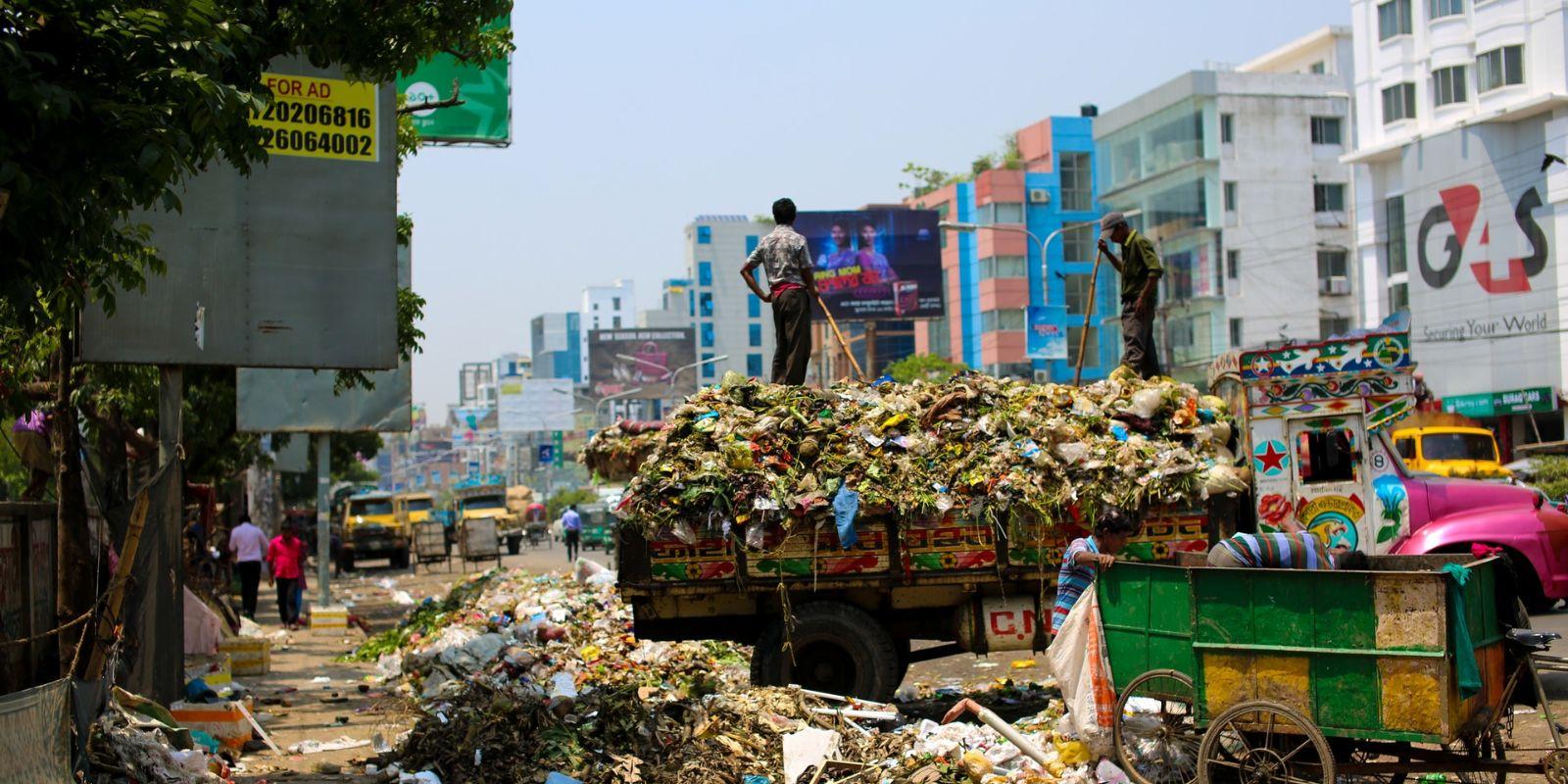szemétszállítás, újrafeldolgozás, globális környezeti probléma, a lerakók megtelnek