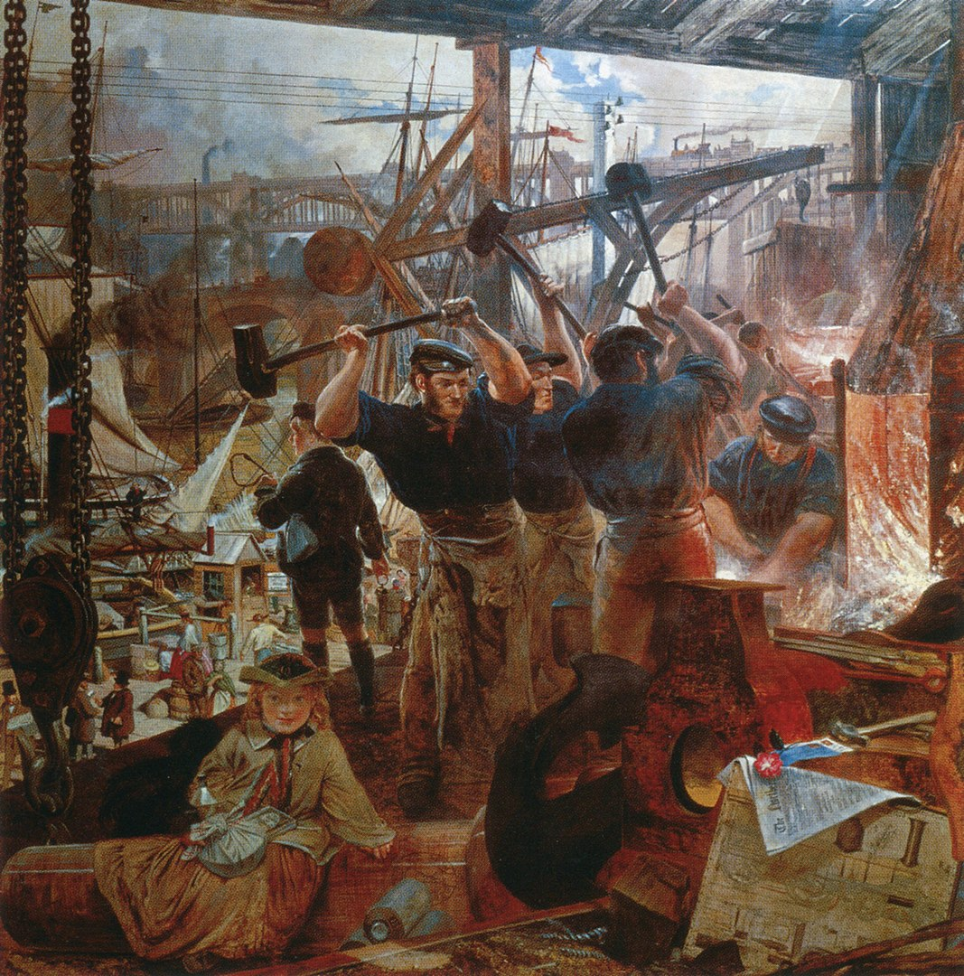 William Bell Scott: Vas és szén, 1855–60